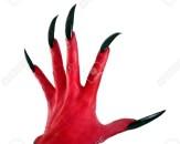 12900672-a-red-devil-Hand-mit-schwarzen-N-geln-Lizenzfreie-Bilder