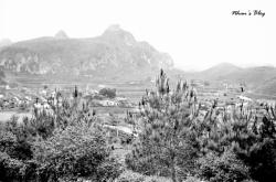Dong Dang, vu depuis le poste d'observation qui surplombe le village.
