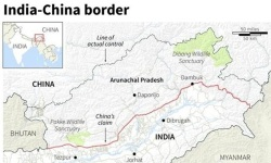 Map of Arunachal Pradesh, one of the disputed area between China and India.